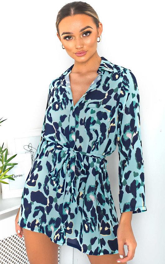 Julie Tie Waist Shirt Dress