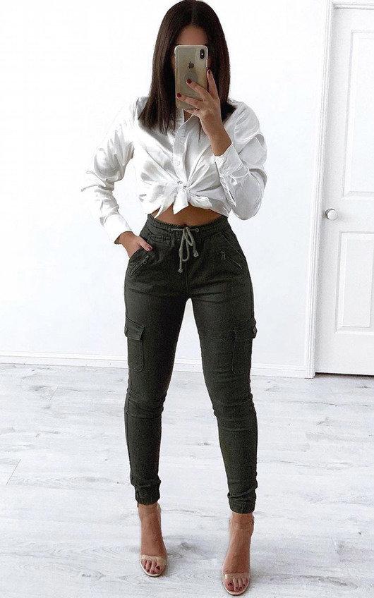 Kadi Tie Front Long Sleeve Shirt