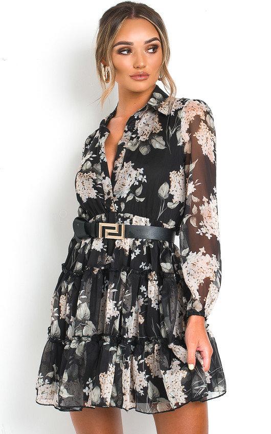 Kaggie Floral Shirt Dress