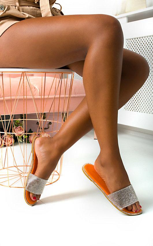 Kai Diamante Embellished Slip On Sandals