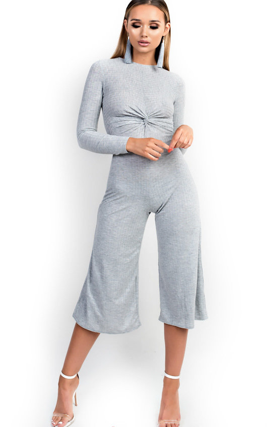 Kansas Knot Front Wide Leg Jumpsuit