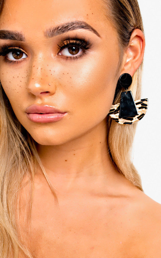 Kara Geometric Drop Earrings