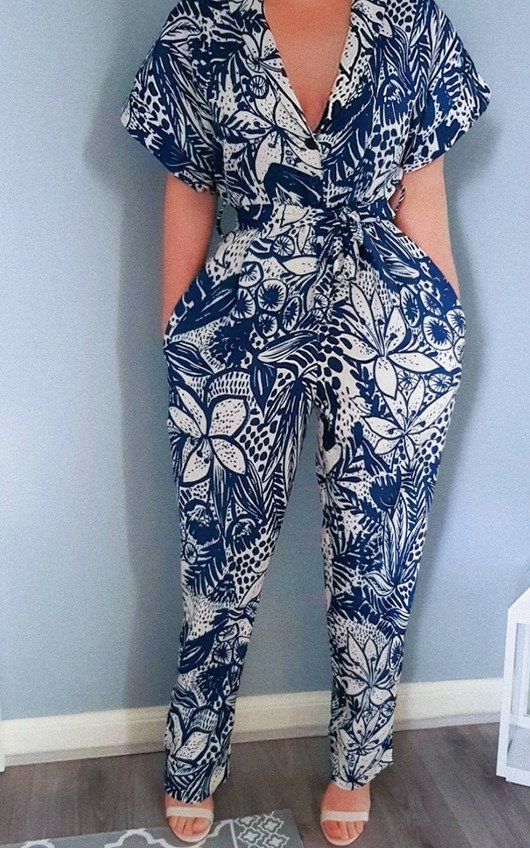 Kara Printed Jumpsuit