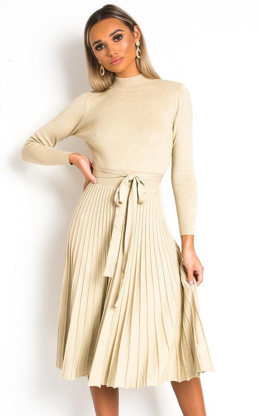 Karla Pleated Skirt Dress