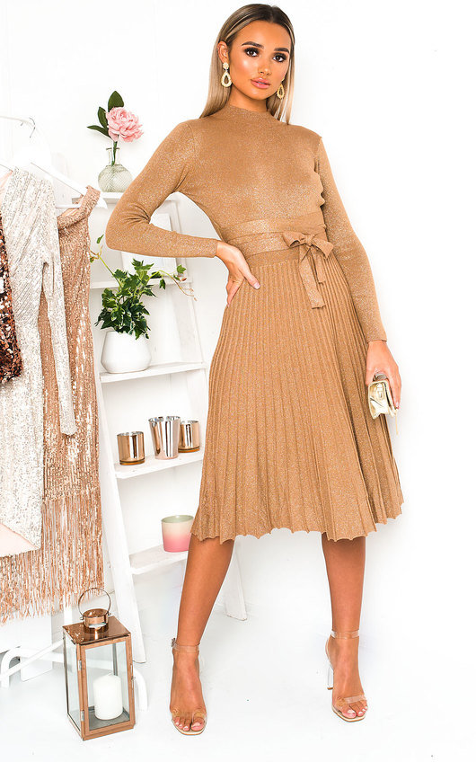 Karla Pleated Skirt Dress
