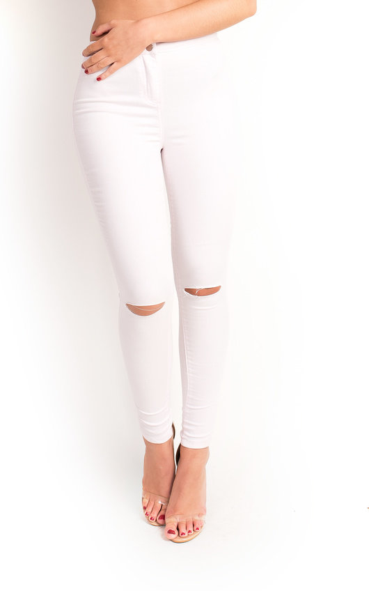 Karlene Skinny Ripped Jeans