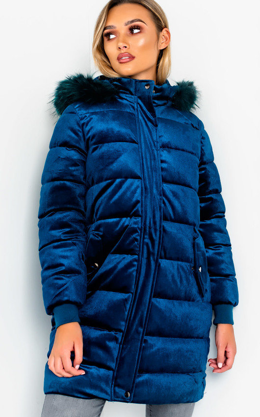 Kat Long-Lined Sleeved Puffer Coat