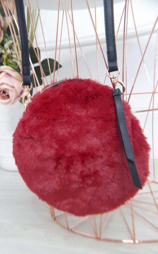 Kate Fluffy Round Crossbody Bag