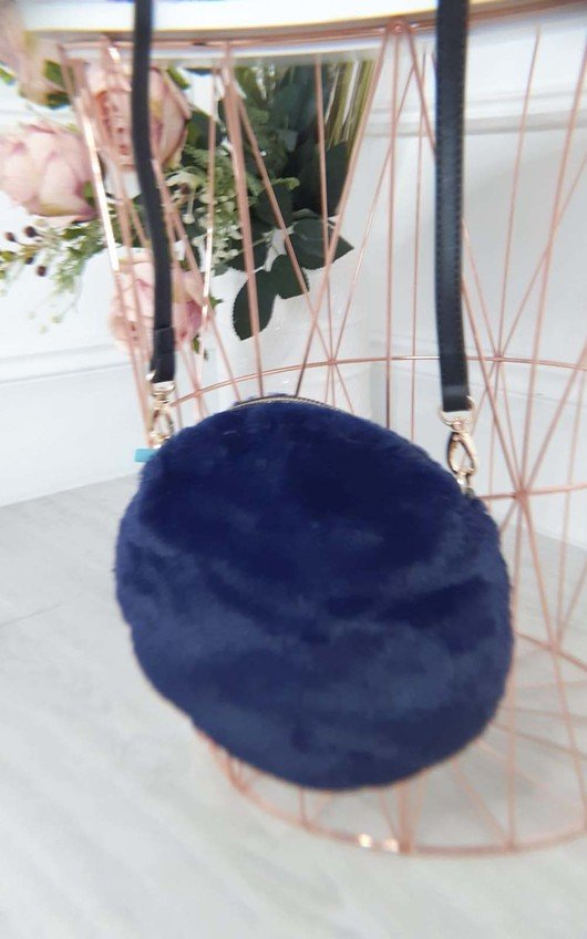 Kate Fluffy Round Crossbody Bag