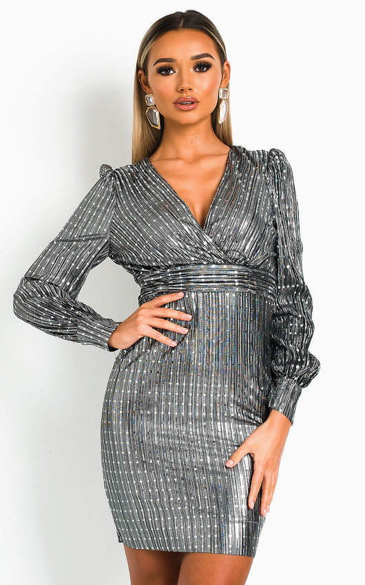 Kate Metallic Shine Mini Dress