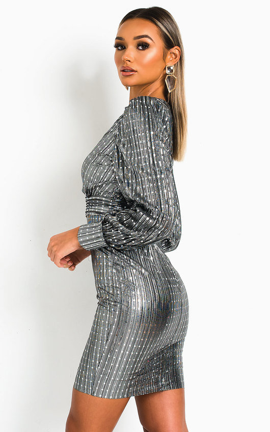 Kate Metallic Shine Mini Dress
