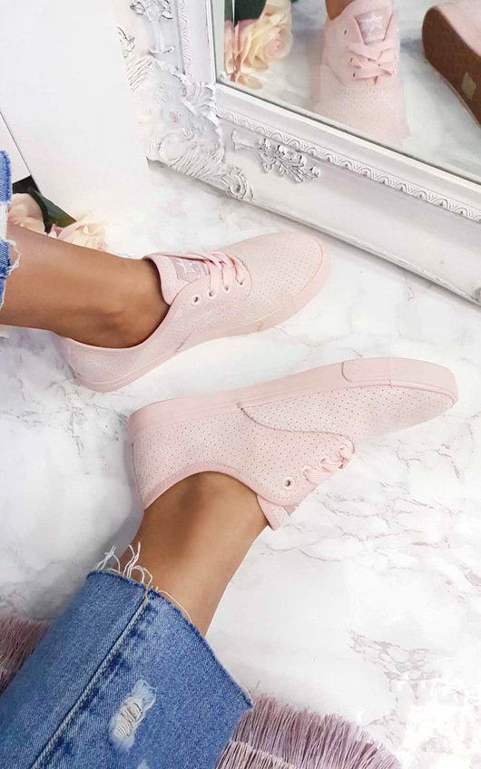 Kati Faux Suede Lace Up Trainer
