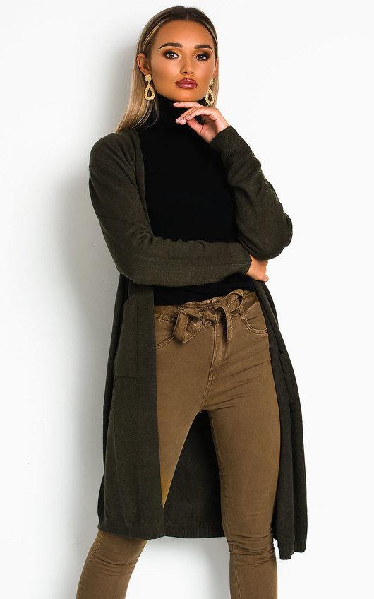 Katiee Longline Knitted Cardigan