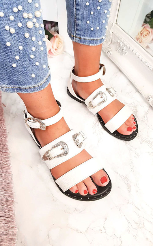 Katja Double Buckle Strapped Sandals