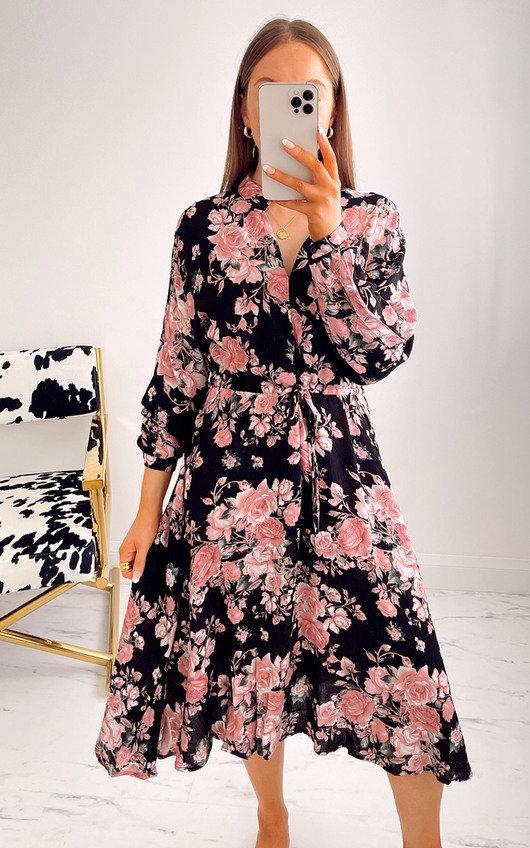 Katrina Printed Midi Dress