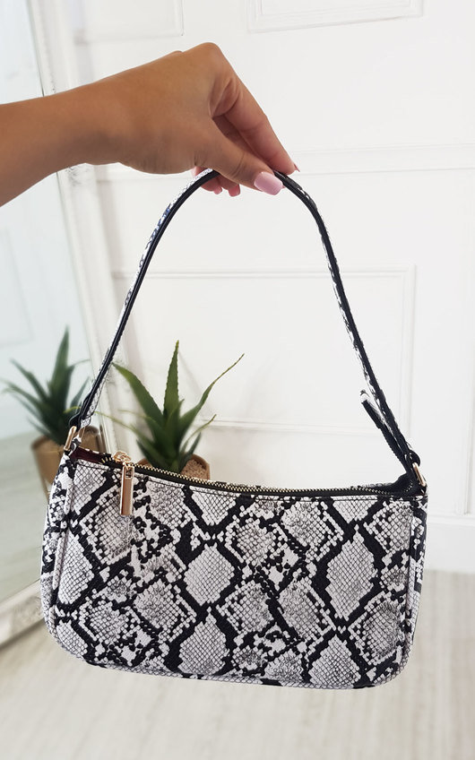 Kay Snake Print Shoulder Handbag
