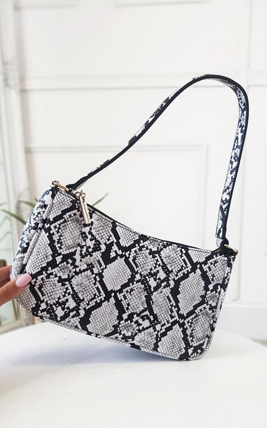 Kay Snake Print Shoulder Handbag