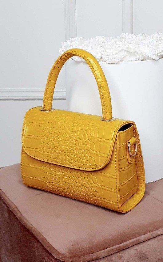 Kayley Croc Print Clutch Bag