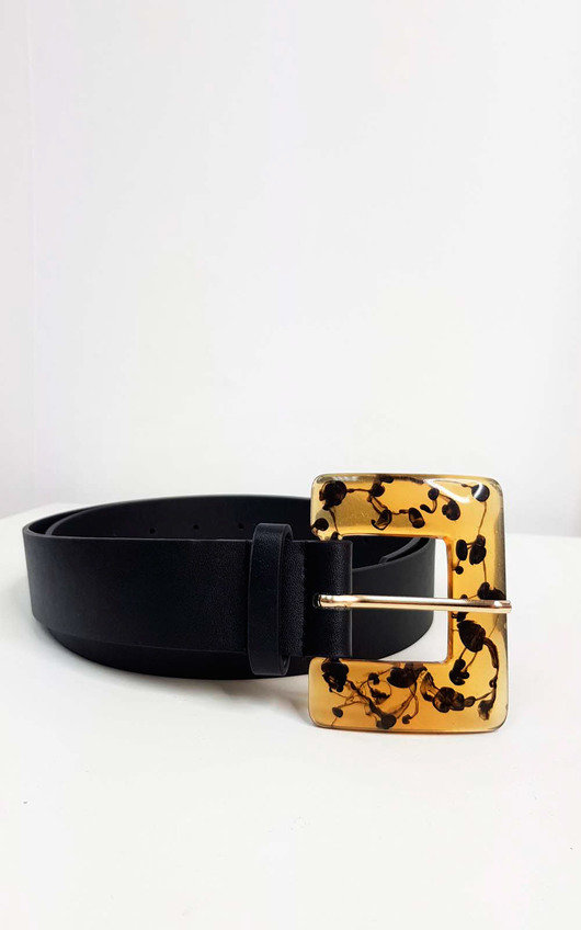 Kaz Square Tortoiseshell Buckle Belt