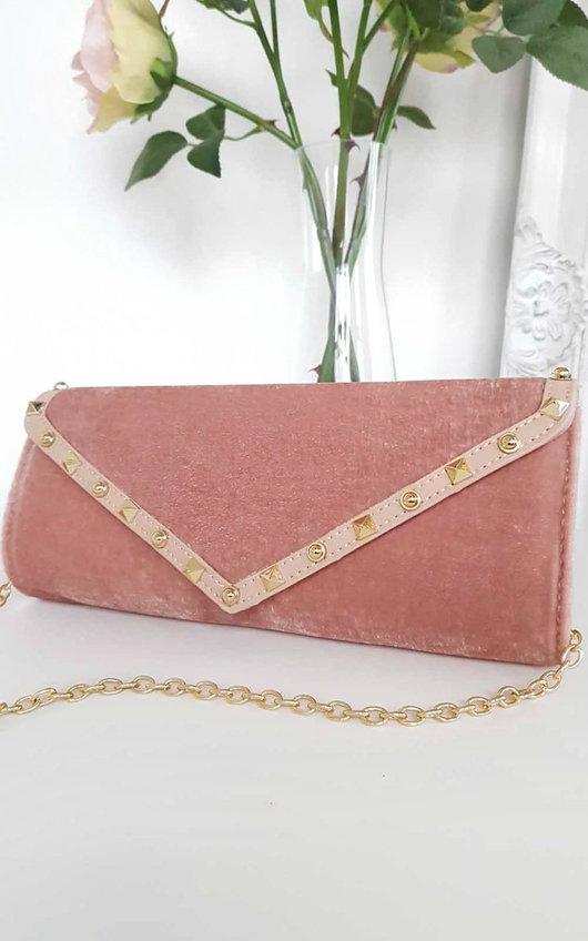 Kazia Velvet Envelope Clutch