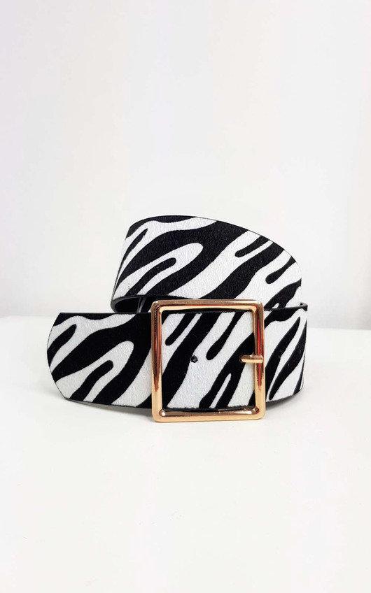 Kelli Zebra Print Belt