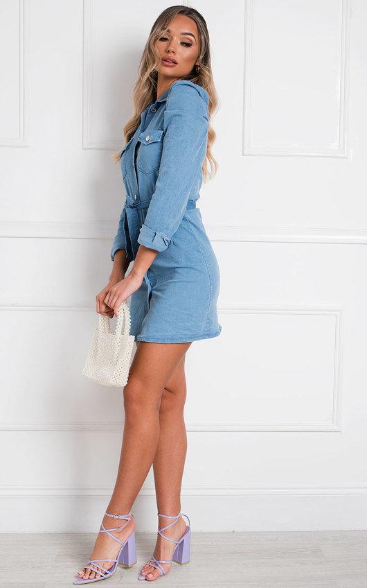 Kellie Button Up Denim Dress