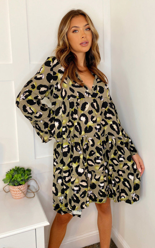 Kellie Printed Smock Dress