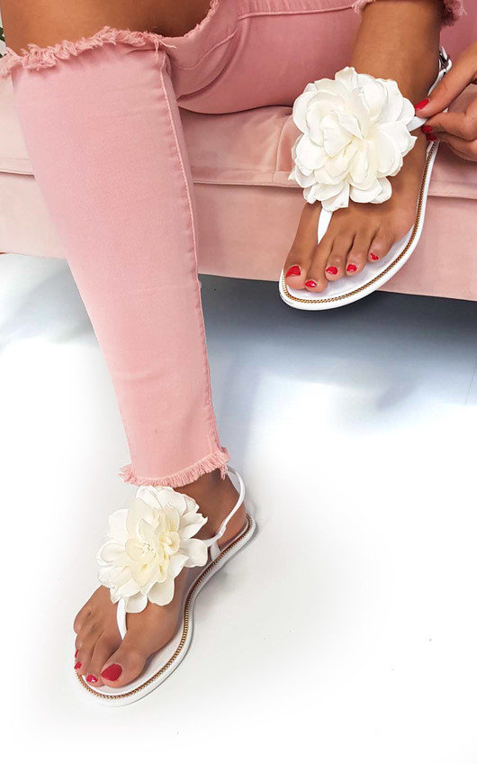 Kelly Flower Jelly Flip Flop Sandals