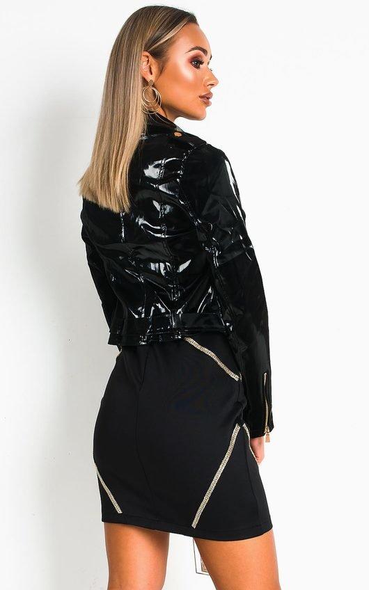 Kelsie Faux Leather Patent Jacket