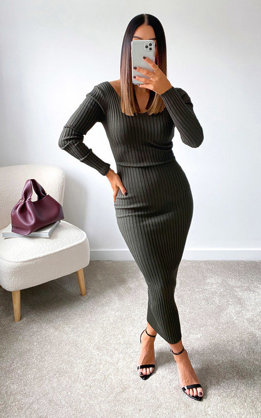 Kendall Knitted Bodycon Midi Dress