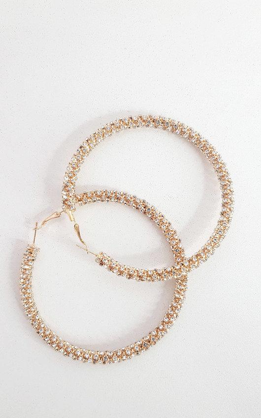Kerri Diamante Hoop Earrings