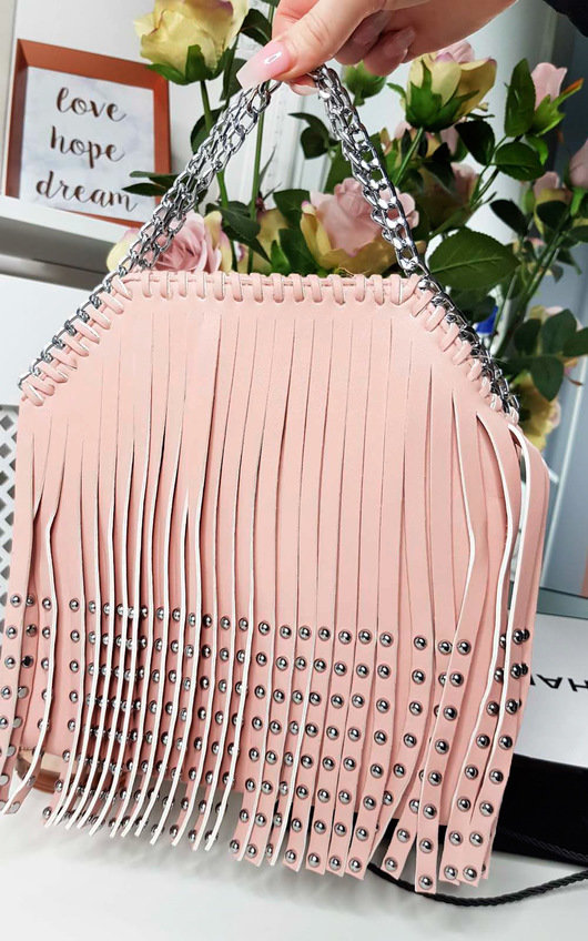 Kerri Studded Fringe Crossover Bag