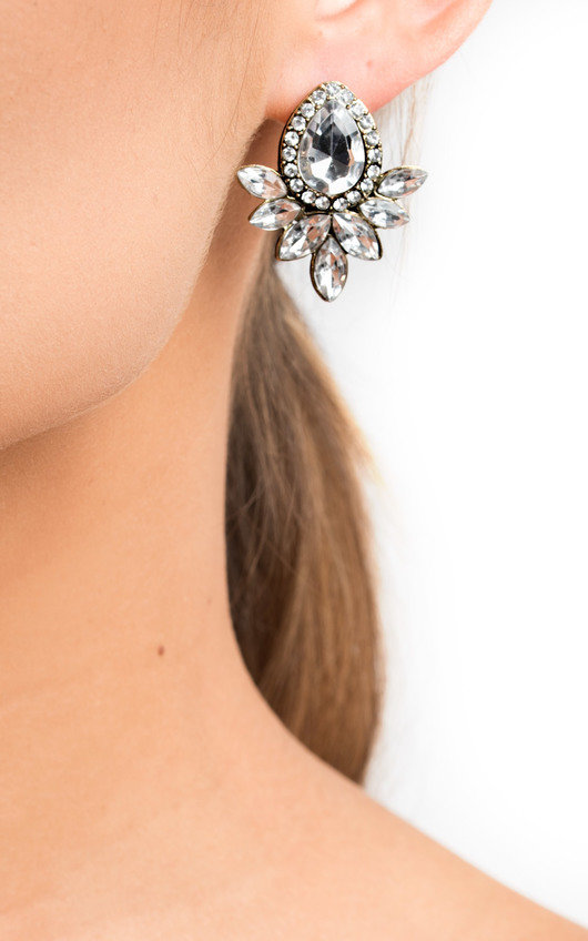 Kerrie Diamante Drop Earrings