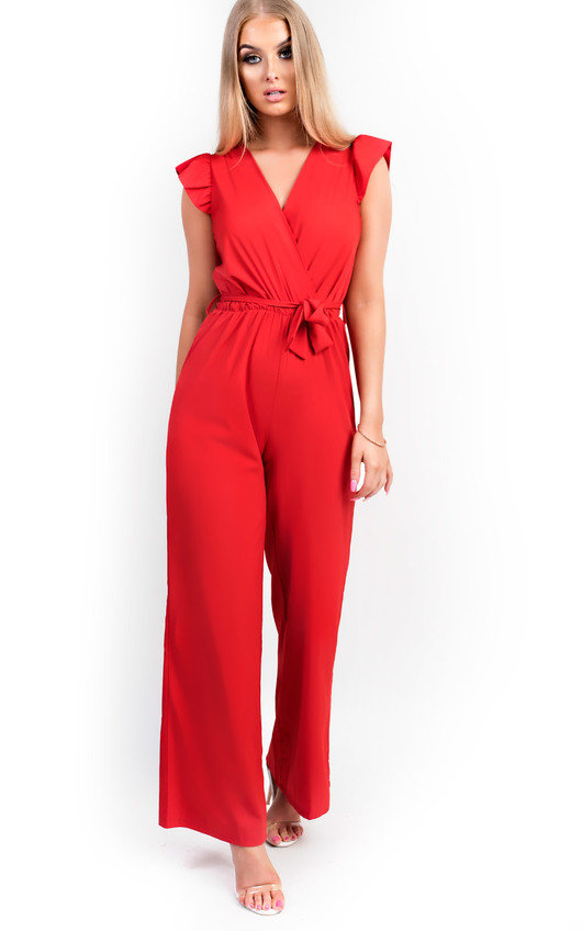 Kerry Belted Wide Leg  Jumpsuit