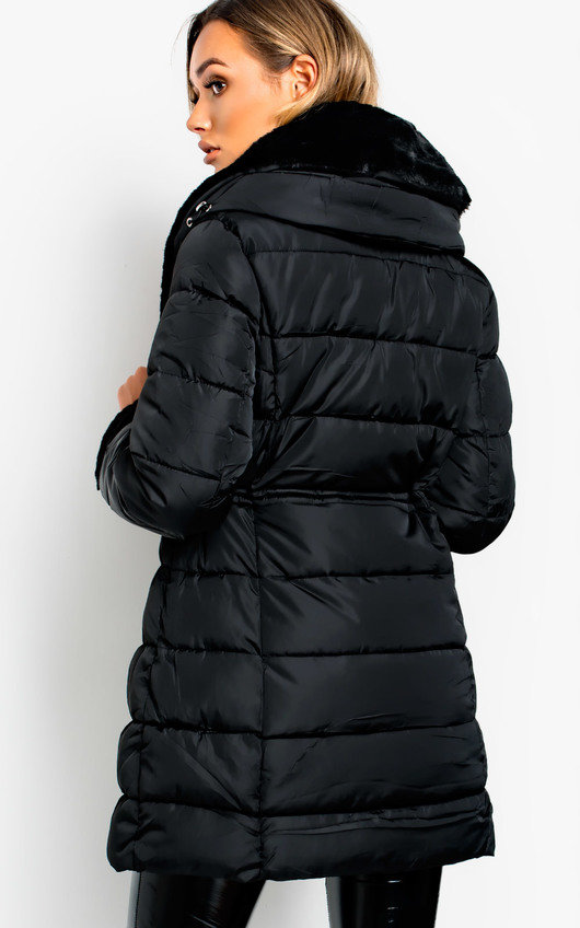 Kerry Faux Fur Lined Long Puffer Jacket