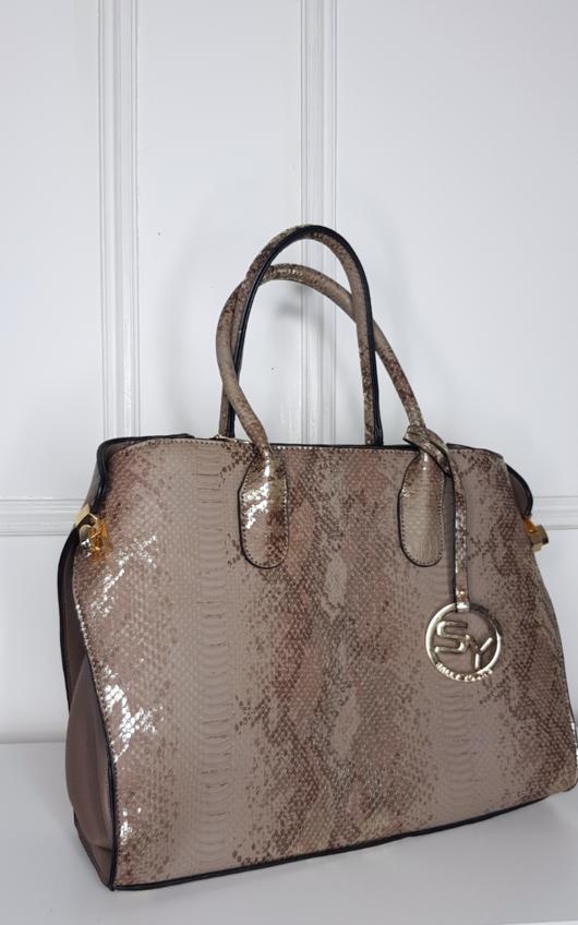 Khloe Snake Print Bag