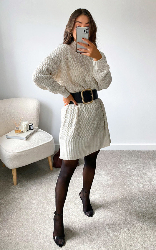 Kiki High Neck Jumper Dress