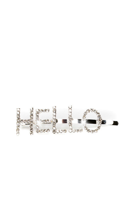 Kiki Slogan Diamante Hair Clip