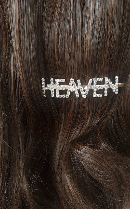 Kiki Heaven Slogan Diamante Hair Clip