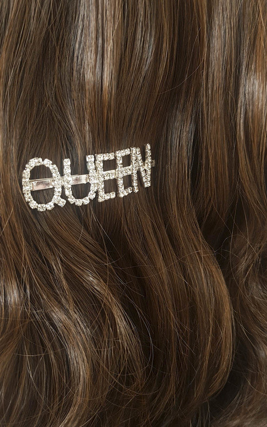 Kiki Queen Slogan Diamante Hair Clip