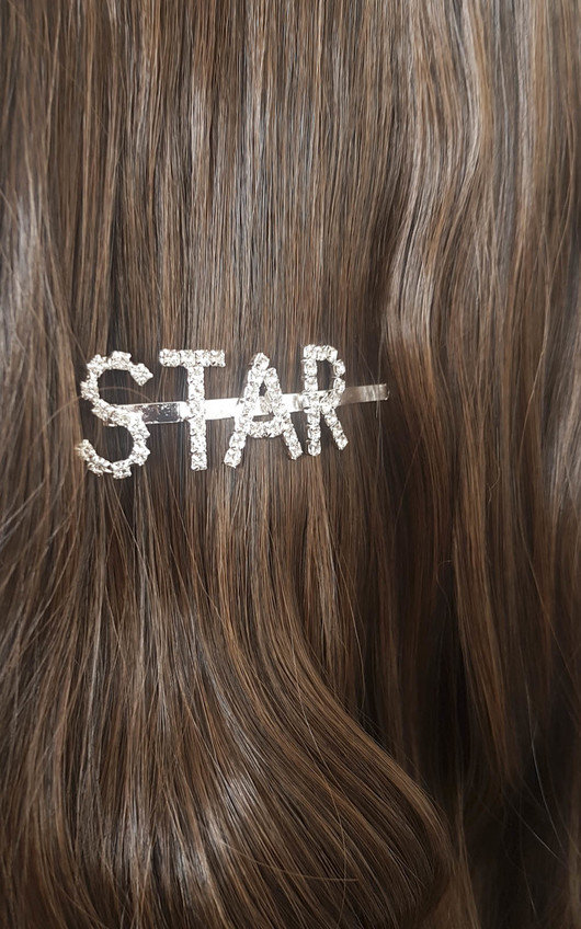 Kiki Star Slogan Diamante Hair Clip