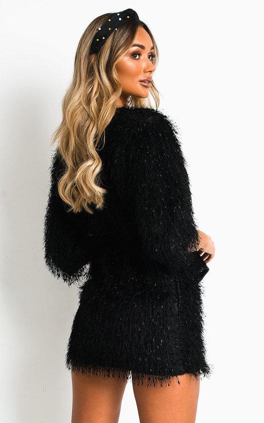 Kimberley Fuzzy Mini Bodycon Dress