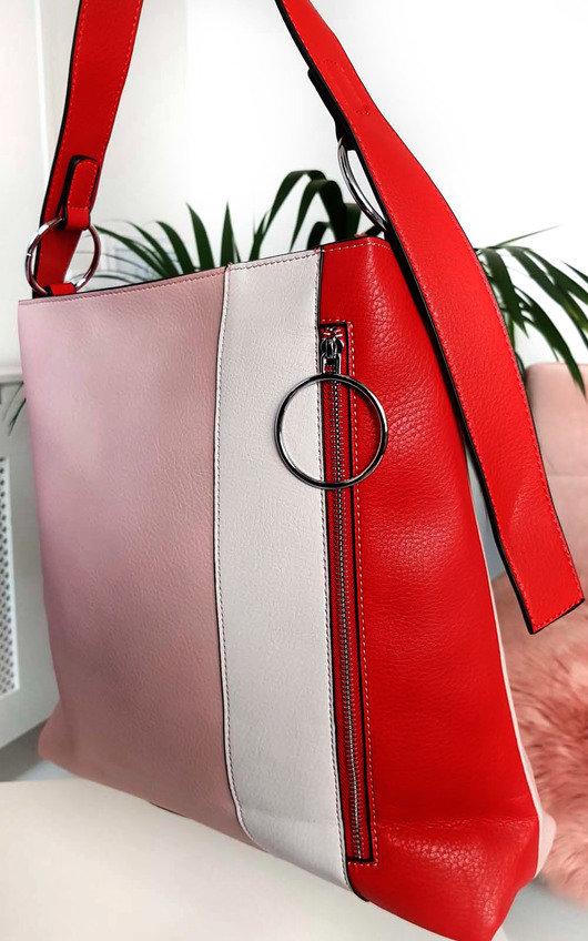 Kimberly Colour Block Tote Handbag