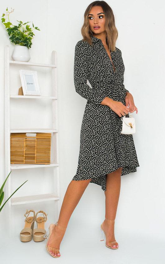Kimmie Ditsy Print Midi Dress