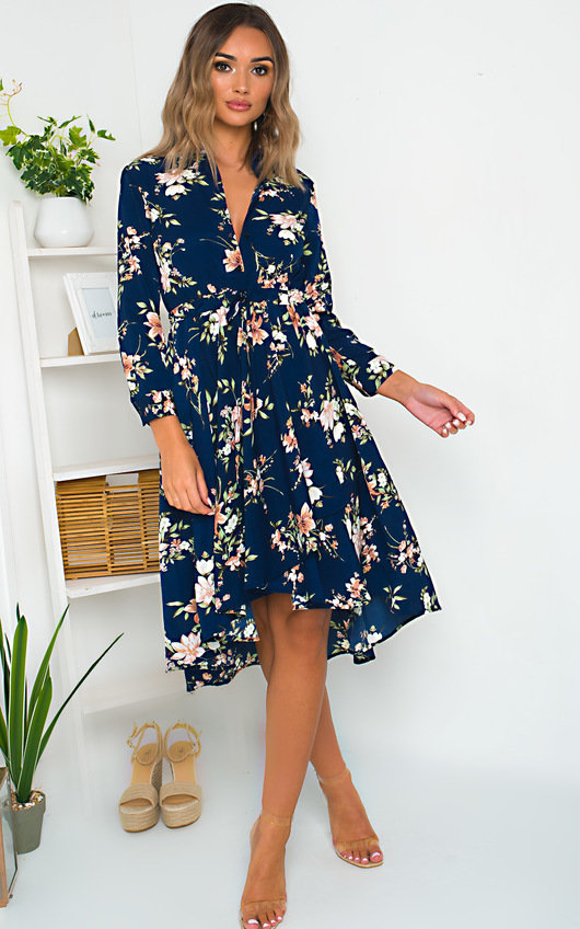 Kimmie Floral Print Midi Dress