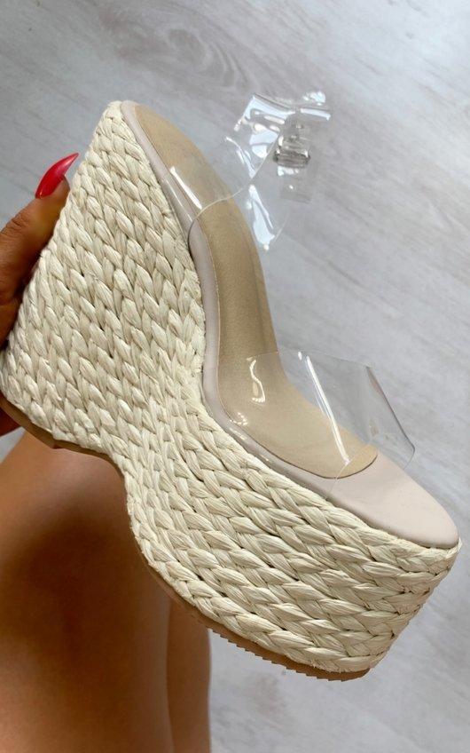 Kimmie Perspex Wedged Heel