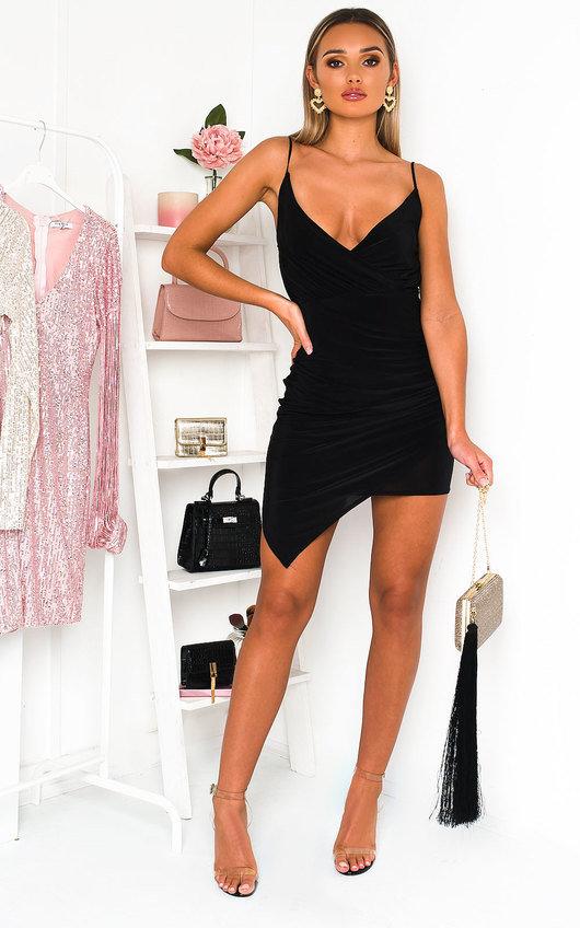 Kirsty Strappy Slinky Mini Dress