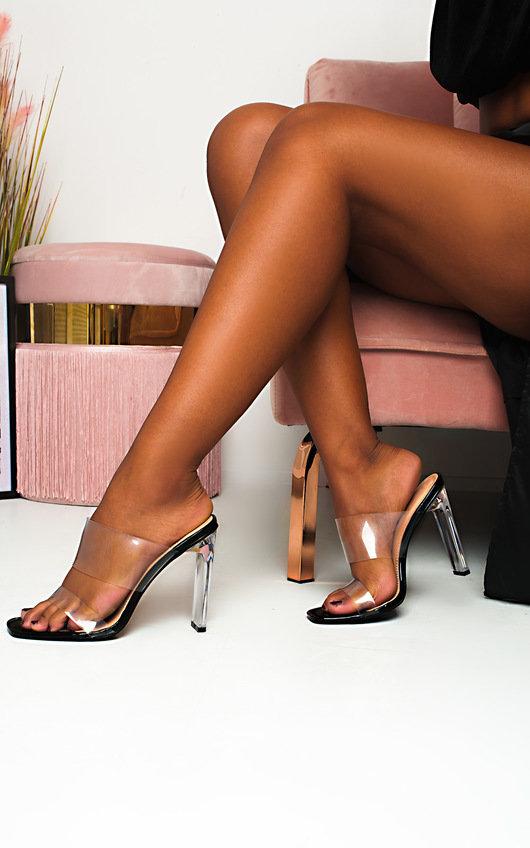 Kirti Perspex Mule Heels