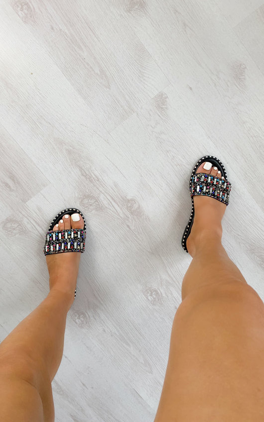 Kizzy Multi Colour Embellished Sandals