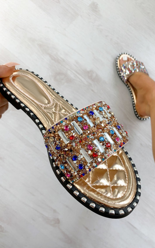 Kizzy Multi Colour Embellished Sandals